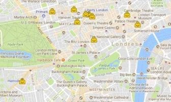 Shopping in London Map