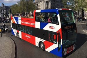 sightseeing bus tours in London